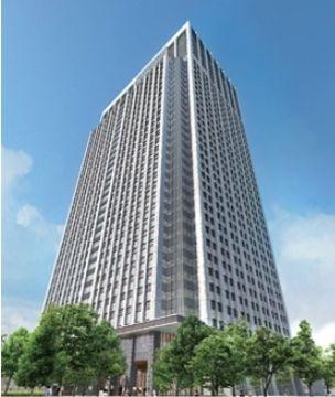 東京ワールドゲート 神谷町トラストタワーの竣工イメージ図