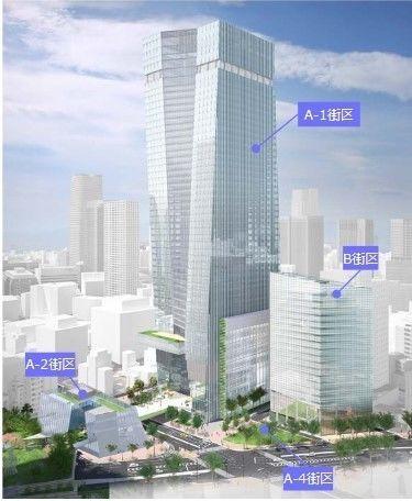 (仮称)虎ノ門ヒルズステーションタワーの竣工イメージ図